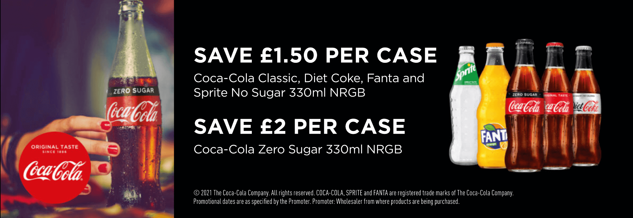 Offers on cases of Coca Cola products from Ale & Beer Supplies, St Helens, North West