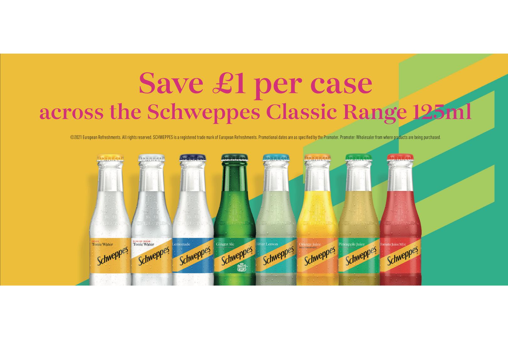 Schweppes Classic Range 125ml